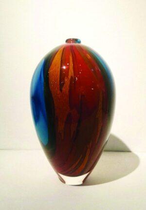 tall ovoid vase glass