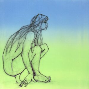 nude crouching