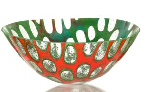 anenome glass bowl
