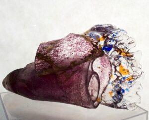 Sea Horn cast glass