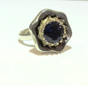 night star iolite ring