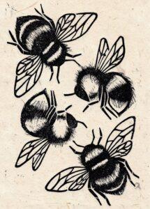 bee hive print