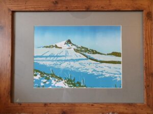 snowy hill original print