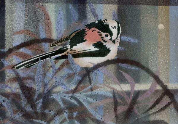 long tailed tit print