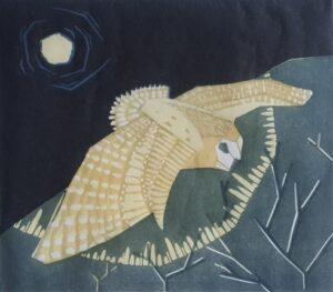 owl flying print