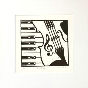 violin print