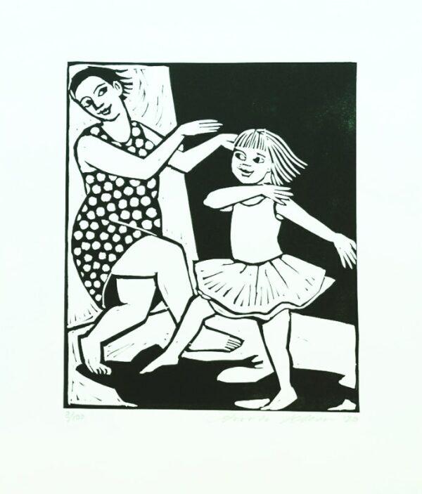dancing print
