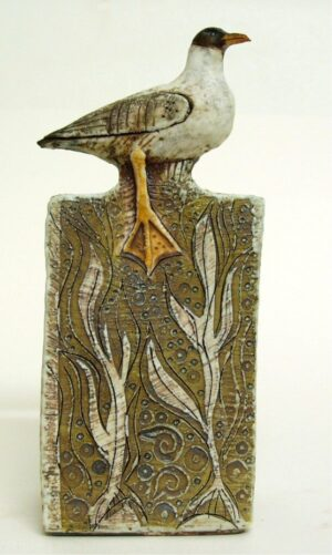 black headed gull sculpture