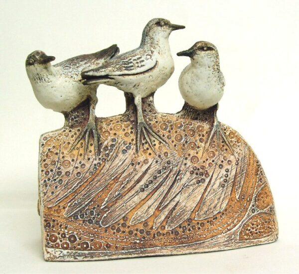 sculpture of sanderlings