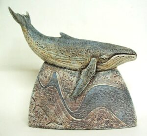 humback whale sculpture