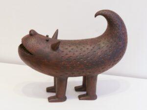 strange creature sculpture