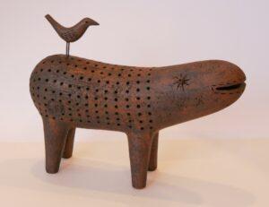ceramci sculpture creature