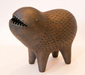 ugly creature sculpture