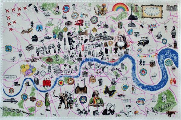 london map screenprint