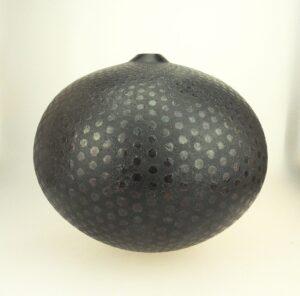 black ceramic vessel