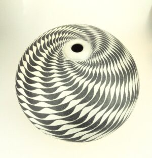 coiled ceramic vessel