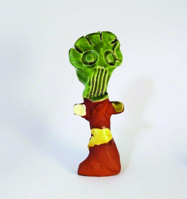 tiny ceramic monster